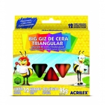Big Giz de Cera Triangular 12 Cores - Acrilex