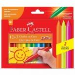 Gizão de Cera Jumbo  12+3 Cores - Faber-Castell
