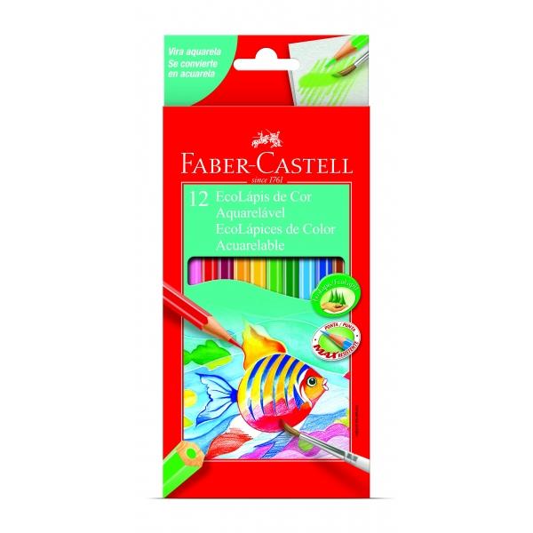 Ecolapis de Cor Aquarelavel 12 Cores - Faber-Castell