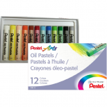 Giz Pastel Oleoso 12 cores - Pentel