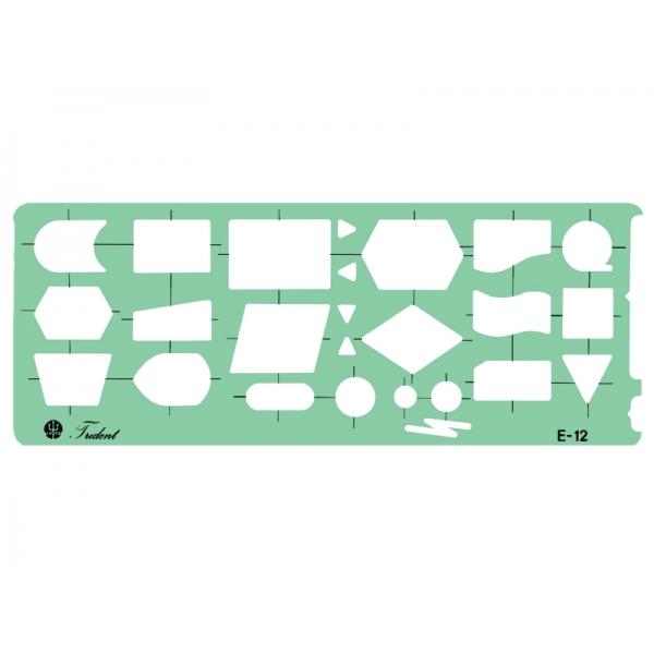 Gabarito de Eletro Eletrônica - Fluxogramas E-12 - Trident