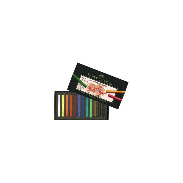 Pastel Polychromos 12 Cores - Faber-Castell