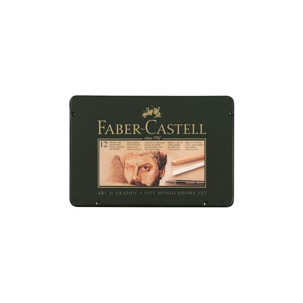 Conjunto PITT Monocromático Set 12 peças - Faber-Castell