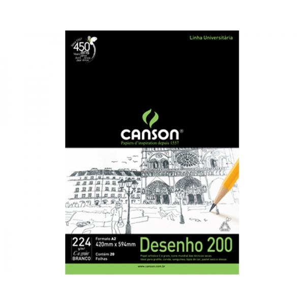 Bloco Desenho 200 A2 - Canson