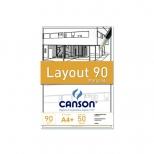Bloco Layout 90 A-4 Margeado - Canson