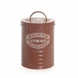 Cachepot grande em metal Vintage Storage marrom - Cromus