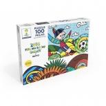 Puzzle Copa do Mundo da FIFA by Romero Britto - 100 Peças - Grow