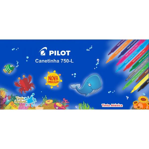 Canetinha Hidrográfica 750-L  12 cores - Pilot