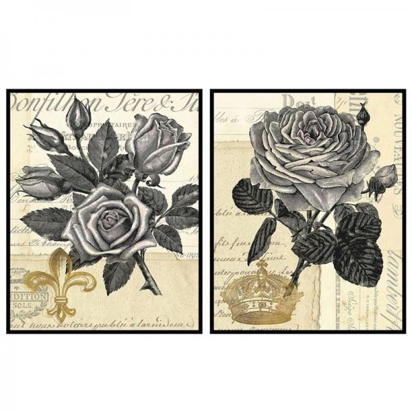 Conjunto de 2 Quadros Rosas - BTC