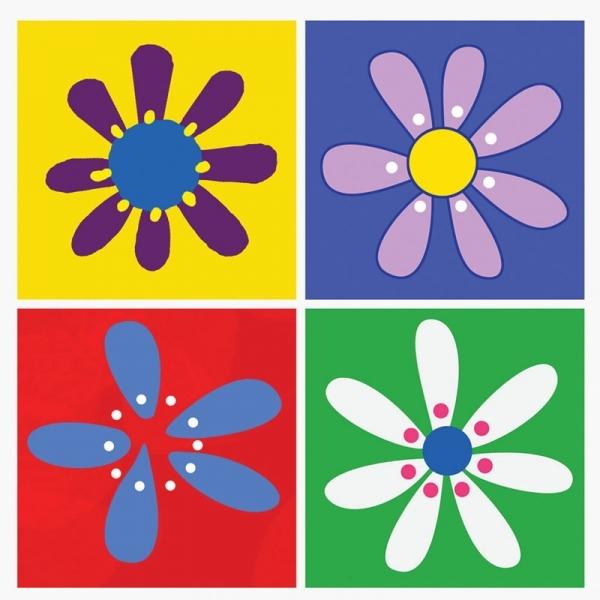 Conjunto de 4 Quadros Flores - BTC