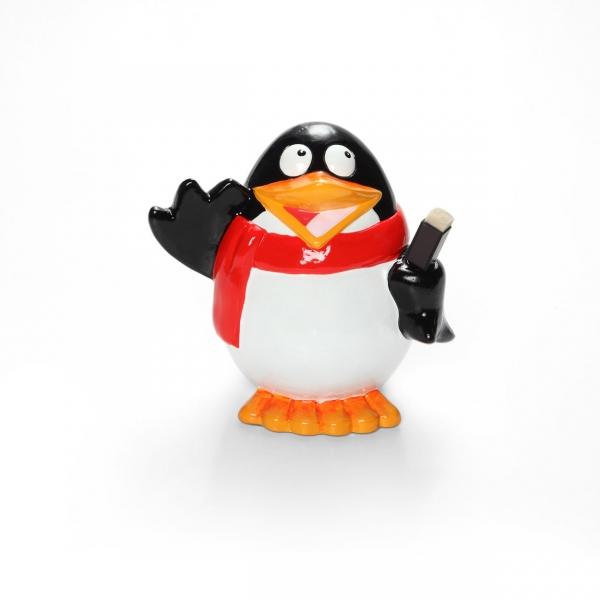 Cofre Pinguim Feliz com Caneta - Ludi