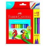 Canetinha Hidrocor 12 cores + 2 Vai Vem - Faber-Castell