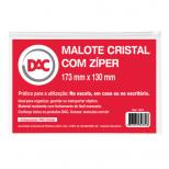 Malote Cristal Pequeno com Zíper  Ref. 1007 - DAC