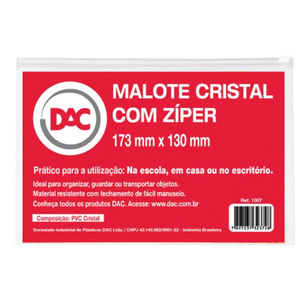 Malote Cristal com Zíper  Ref. 1007 - DAC