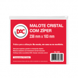 Malote Cristal Médio com Zíper  Ref. 1006 - DAC