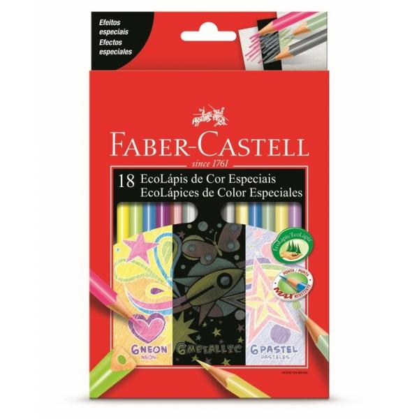 Ecolápis de Cor Especiais  18 Cores - Faber-Castell