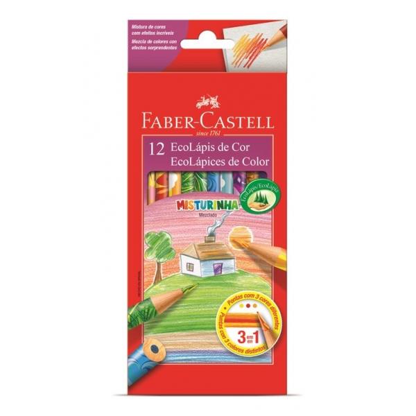 Ecolápis de Cor Misturinha  12 Cores - Faber-Castell