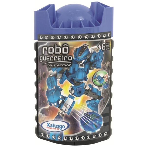 Blocos de Encaixe Robô Guerreiro Blue Armor - Xalingo