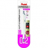 Lapiseira Orenz  0.2mm + estojo de grafite - Pentel