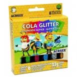 Cola Glitter 6 cores - Acrilex