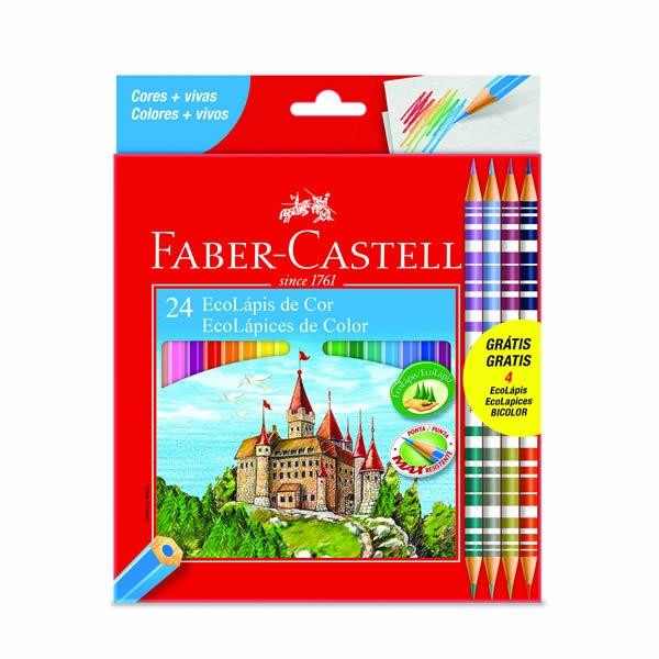 Ecolápis de Cor  24 Cores - Faber-Castell