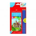 Ecolápis de Cor  12 Cores + 3 Lápis Pretos - Faber-Castell