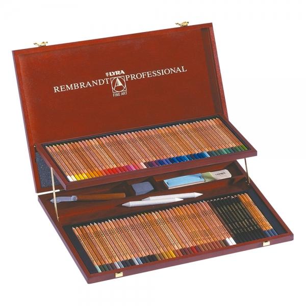 Lápis de Cor Rembrandt Professional Polycolor Estojo de Madeira com 106 unidades - Lyra