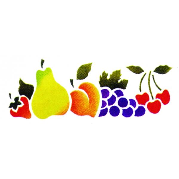 Stencil 33cm x 14cm  Frutas - Acrilex