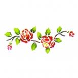 Stencil 33cm x 14cm Rosas - Acrilex