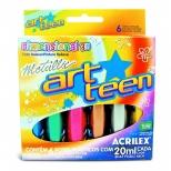 Tinta Dimensional 3D Metallic  6 cores - Acrilex