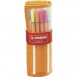 Caneta Extrafina Point 8830-2  Estojo Com 25 Cores + 5 Neon - Stabilo