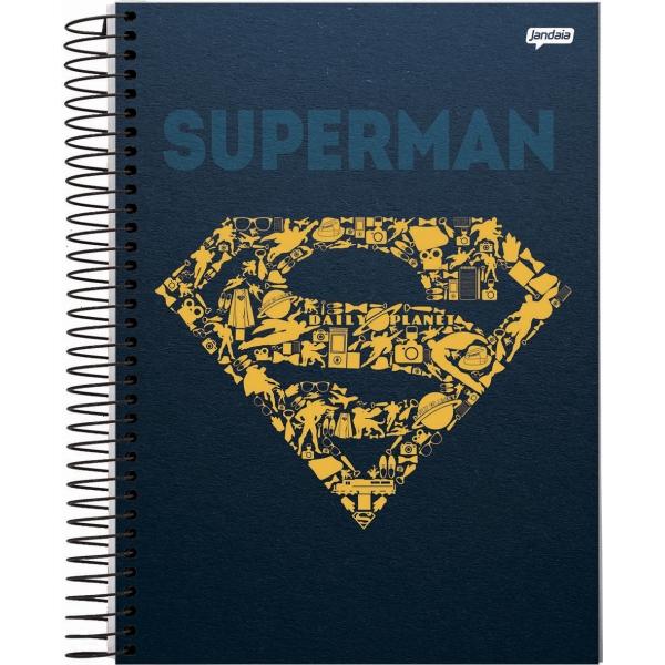 Caderno Universitário Capa Dura DC Comics - 15 Matérias - 300 Folhas - Jandaia