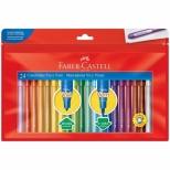 Canetinha Ponta Vai e Vem 24 cores - Faber-Castell