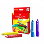 Giz de Cera SuperSoft  6 cores - Faber-Castell