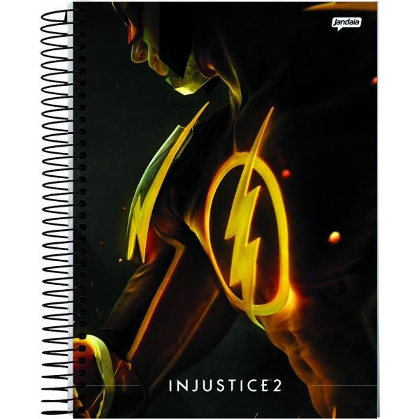 Caderno Universitário Capa Dura Injustice - 1 Matéria - 96 Folhas - Jandaia