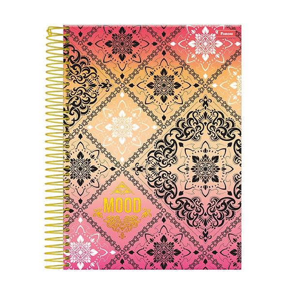 Caderno Universitário Capa Dura Mood - 10 Matérias - 200 Folhas - Foroni
