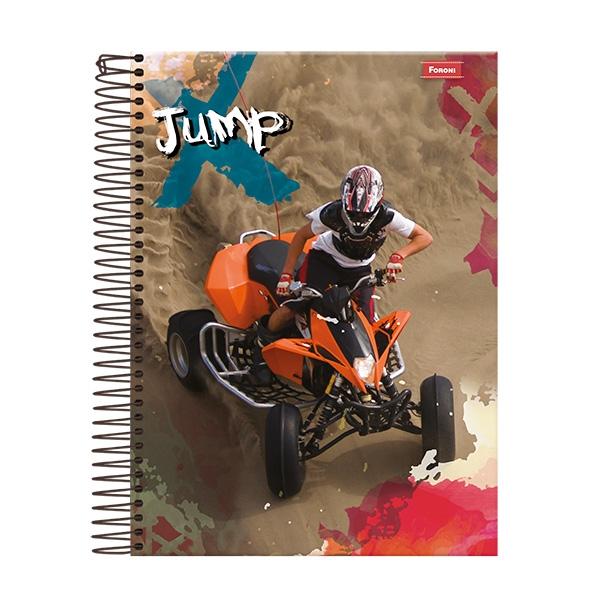 Caderno Universitário Capa Dura Jump - 15 Matérias - 300 Folhas - Foroni