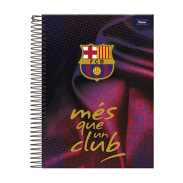 Caderno Universitário Capa Dura Barcelona - 10 Matérias - 200 Folhas - Foroni