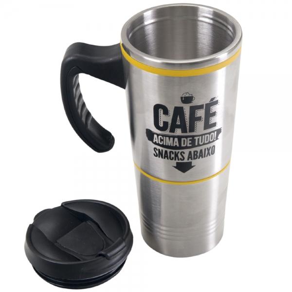 Caneca Térmica Snack - Café Acima de Tudo - Uatt?