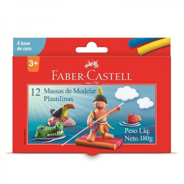 Massa de Modelar Cera 12 Cores - Faber-Castell