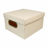 Caixa Organizadora Quadrada Linho Pequena - Dello