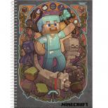 Caderno Universitário Capa Dura Minecraft - 1 Matéria - 96 Folhas - Foroni