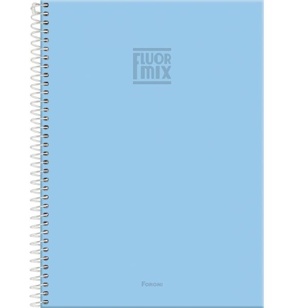 Caderno Universitário Capa Dura Fluor Mix Soft - 1 Matéria - 96 Folhas - Foroni