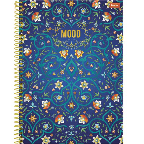 Caderno Universitário Capa Dura Mood - 1 Matéria - 96 Folhas - Foroni