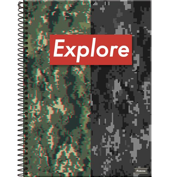 Caderno Universitário Capa Dura Venture - 10 Matérias - 200 Folhas - Foroni