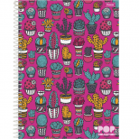 Caderno Universitário Capa Dura Pop Collection - 10 Matérias - 200 Folhas - Foroni