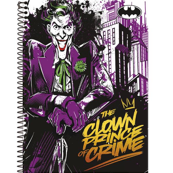 Caderno Universitário Capa Dura Batman -1 Matéria - 96 Folhas - Foroni