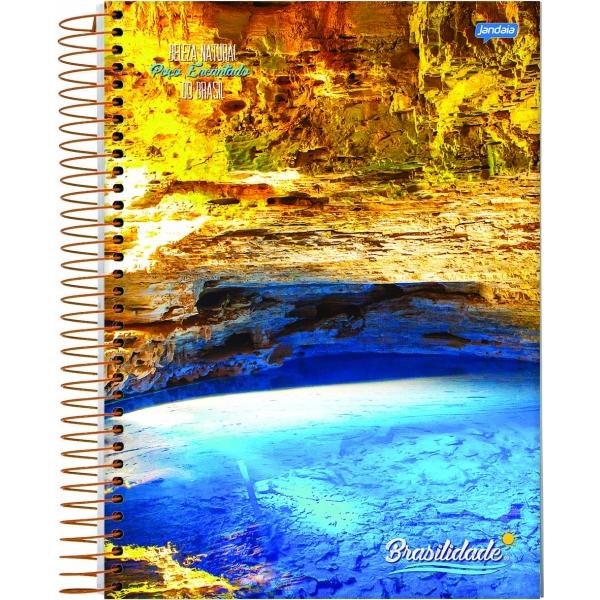 Caderno Universitário Capa Dura Brasilidade - 10 Matérias - 200 Folhas - Jandaia