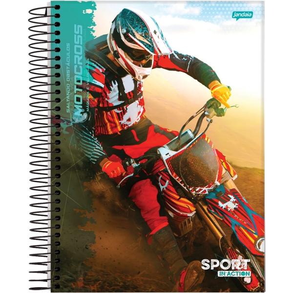 Caderno Universitário Capa Dura Sport - 10 Matérias - 200 Folhas - Jandaia