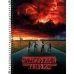 Caderno Universitário Capa Dura Stranger Things - 1 Matéria - 80 folhas - Tilibra